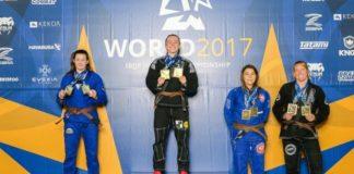 Andressa Cintra, com o ouro duplo no Mundial, chegou à liderança no ranking feminino na faixa-marrom (Foto Reprodução)