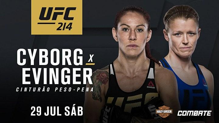 Cris Cyborg terá Tonya Evinger pela frente no card do UFC 214, no dia 29 de julho (Foto Getty Images)