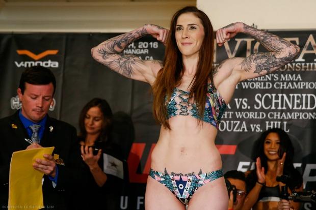 Megan Anderson mostrou não se intimidar com Cris Cyborg para duelo no UFC 214 (Foto Invicta FC)