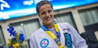 Nathiely Jesus levou o título nos meio-pesados ao vencer Andresa Correa na final (Foto Lisa Pics)