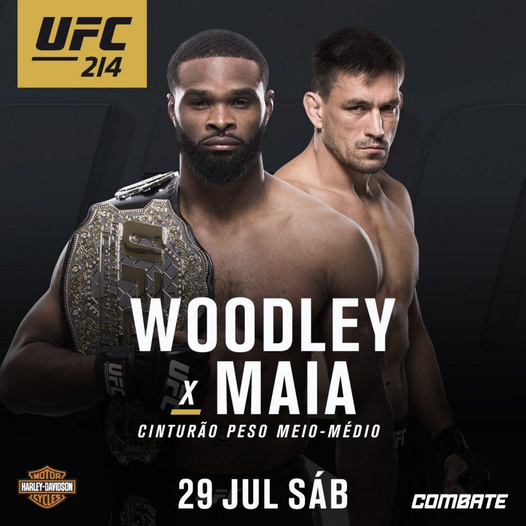Tyron Woodley e Demian Maia se enfrentam no dia 29 de julho, no card principal do UFC 214 (Foto: Divulgação)