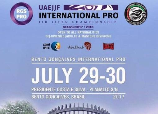 Bento Gonçalves recebe 3ª etapa do circuito International Pro da FBJJ neste fim de semana