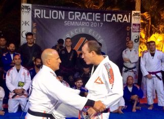 Rilion Gracie ministrou seminário para diversos alunos em Niterói (Foto: GS Jornalismo/Divulgação)