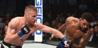 Justin Gaethje foi mais preciso nos golpes e nocauteou Johson para seguir invicto no MMA (Foto Getty Images)