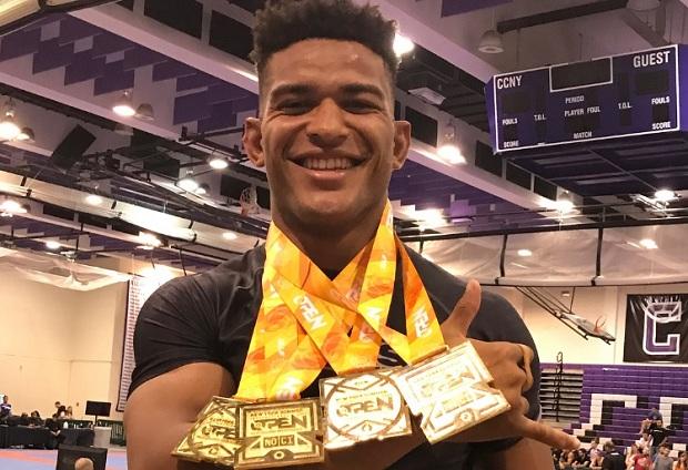 Mahamed Aly conquistou quatro ouros na disputa do New York Open, da IBJJF (Foto: Reprodução)