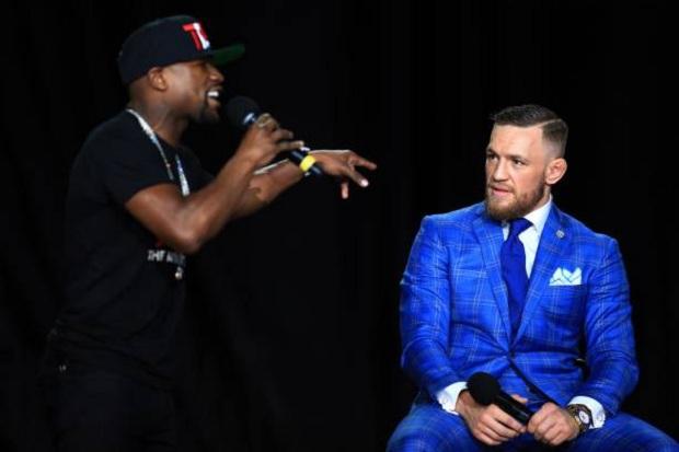Mayweather e McGregor vêm trocando inúmeras provocações durante o tour (Foto: Getty Images)