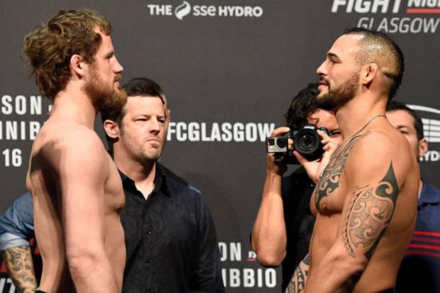 Gunnar Nelson e Santiago Ponzinibbio farão o main event do UFC Glasgow (Foto: Getty Images)