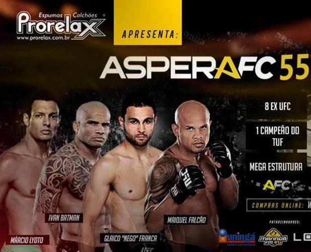 Aspera FC desembarca em Maringá, neste sábado, com card repleto de grandes nomes; saiba mais