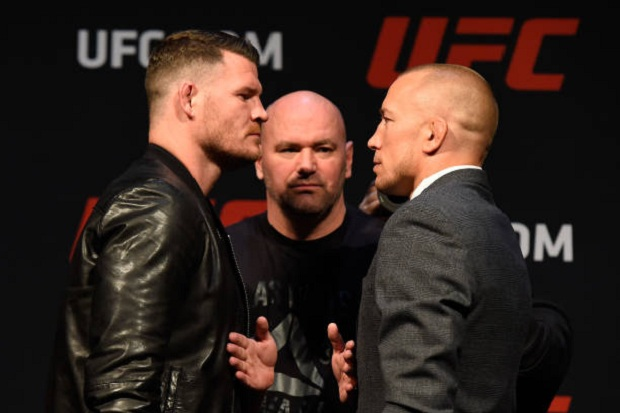 Bisping disse que Dana White deseja remarcar luta contra GSP para o UFC 217 (Foto: Getty Images)