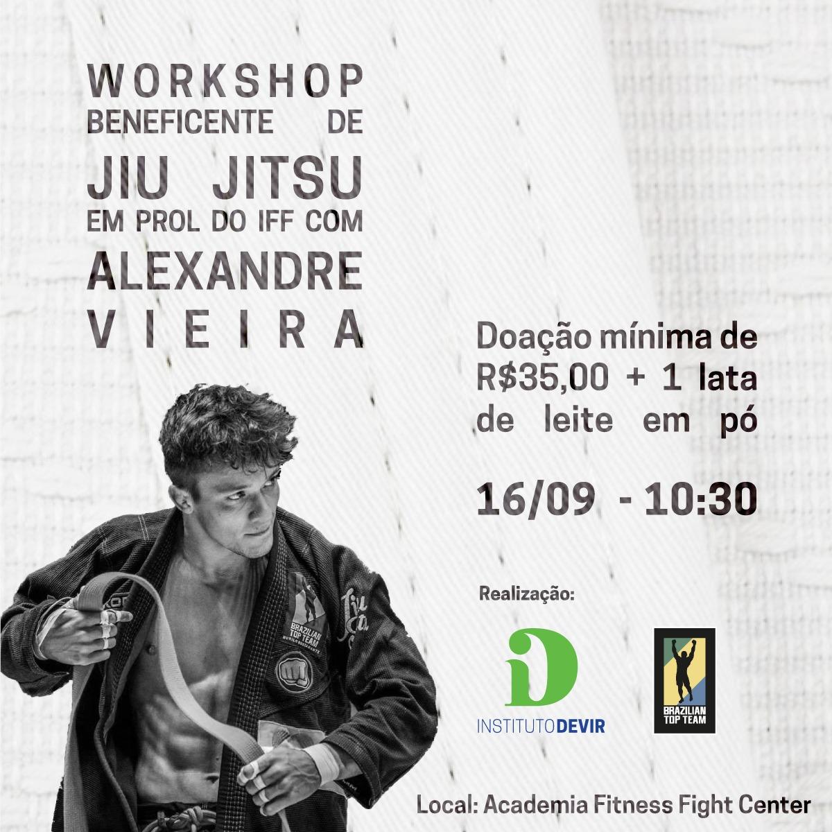 Workshop beneficente de Jiu-Jitsu arrecada fundos para o Instituto Fernandes Figueira (IFF)