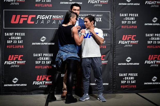 Rivais no UFC Japão, Bate-Estaca cutuca Claudinha: 'Não a considero uma brasileira legítima'
