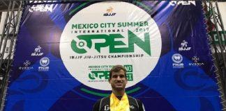 Osvaldo Queixinho brilhou na disputa do México Open, organizado pela IBJJF (Foto: Divulgação)