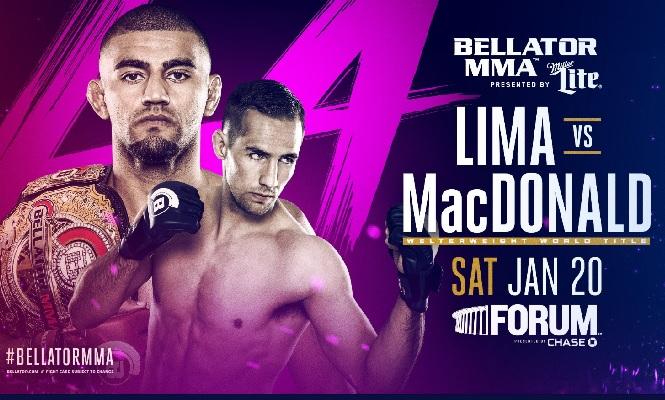 Douglas Lima defende cinturão meio-médio do Bellator contra Rory MacDonald, em janeiro; veja