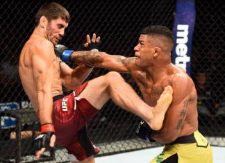 Gilbert Durinho aplicou belo nocaute sobre Jason Saggo para sair vencedor (Foto: Getty Images)