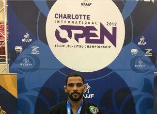 Jaime Canuto venceu mais um torneio, desta vez o Charlotte Open, da IBJJF (Foto: Divulgação)