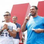 Minotauro e Charles do Bronx lideram ação desenvolvida pelo UFC e projetos sociais (Foto: Divulgação)