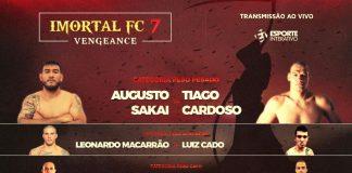 Card do Imortal FC conta com Augusto Sakai, Leonardo Macarrão e outras feras (Foto: Divulgação)