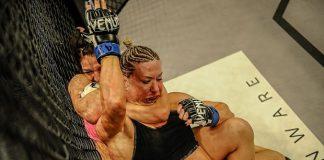 Mackenzie Dern não tomou conhecimento de Mandy Polk e finalizou no primeiro round (Foto: LFA)