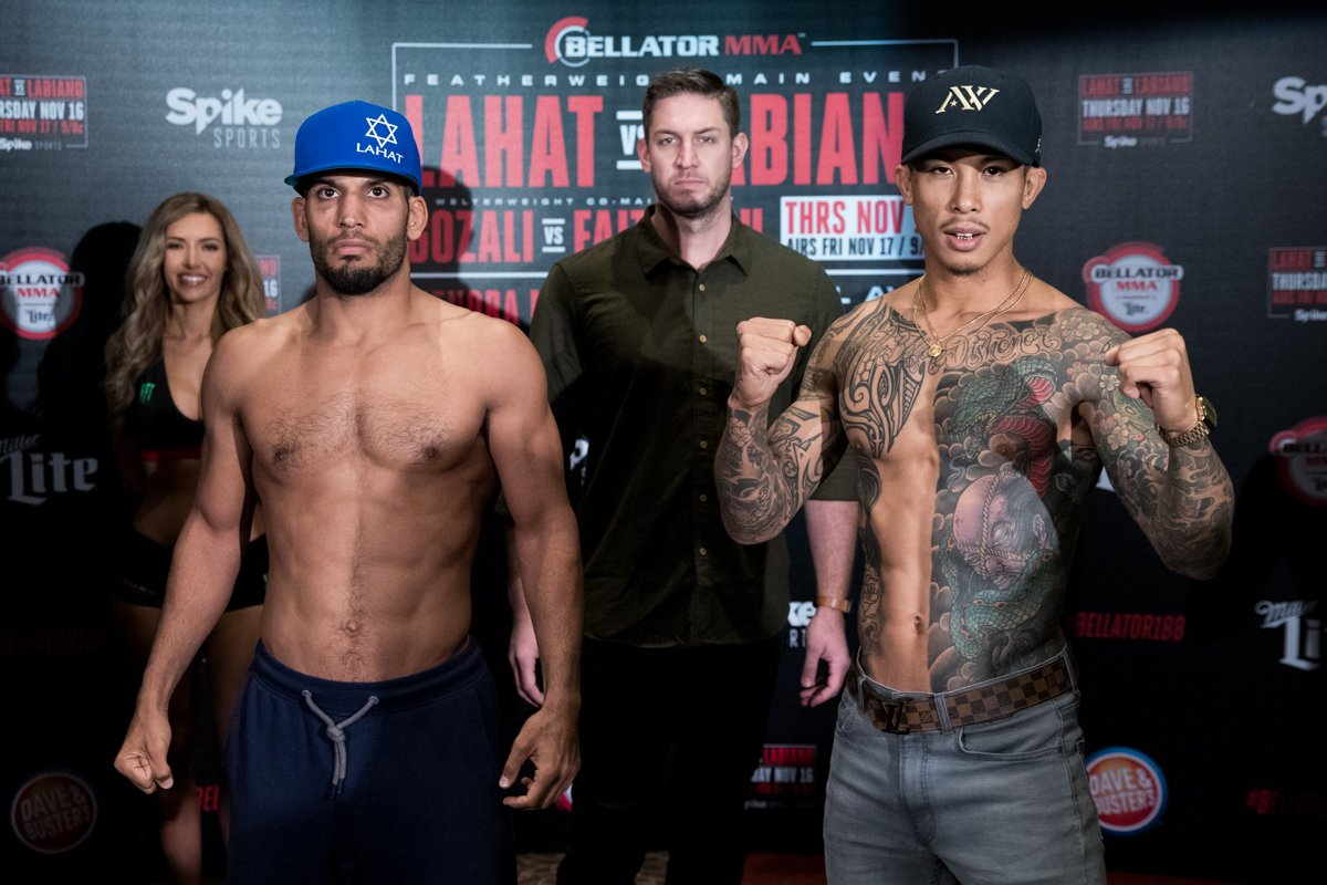 Lahat supera Labiano na nova luta principal do Bellator 188; atleta da casa brilha no co-main event