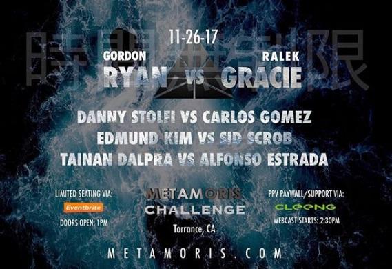 Gordon Ryan e Ralek Gracie estrelam card do Metamoris neste domingo (26) na Califórnia (EUA); saiba