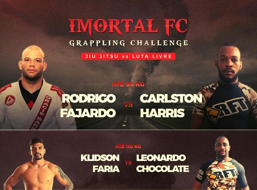 Bicampeão europeu de Jiu-Jitsu encara campeão de Luta-Livre na 1ª edição do Imortal Grappling Challenge