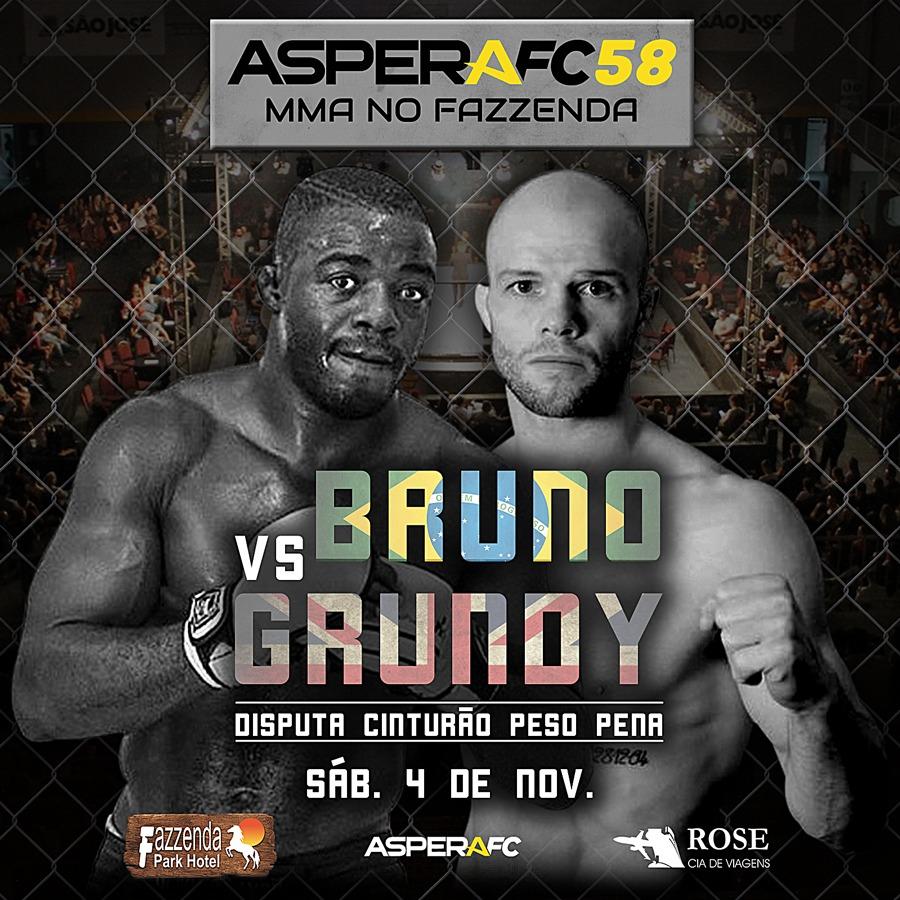 Aspera FC desembarca em Santa Catarina com disputas de cinturão e ex-lutador do UFC no card; confira