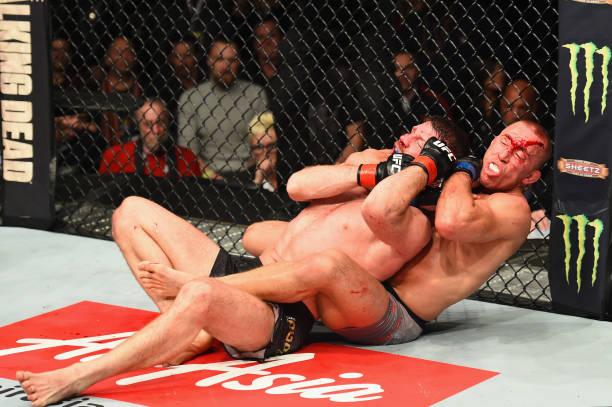 Vídeo: assista à finalização de St-Pierre que 'apagou' Bisping no UFC 217