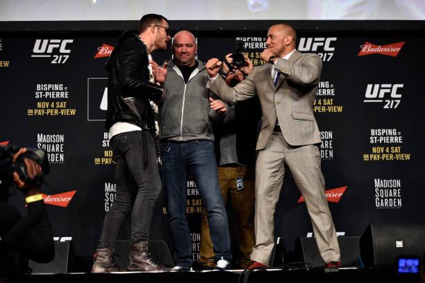 St-Pierre, Garbrandt e Joanna são vistos como favoritos para UFC 217, segundo site de aposta