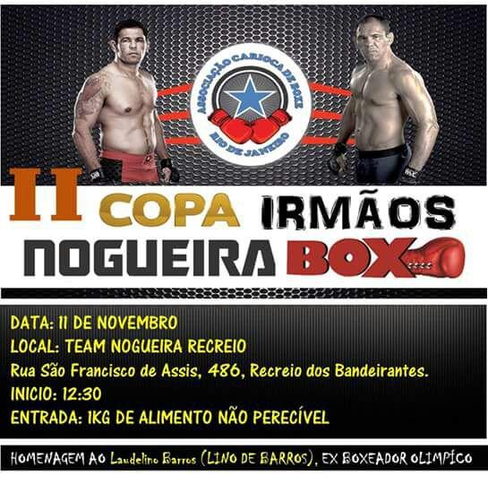 II Copa Irmãos Nogueira de Boxe acontece neste sábado (11) com homenagem a Laudelino Barros