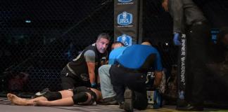 CJ Hancock sofreu parada cardíaca e falência renal durante o confronto diante de Ontiveros (Foto: Mike Jackson)
