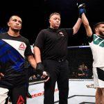 Matheus Nicolau não luta pelo UFC desde julho do ano passado, quando venceu John Moraga (Foto: Getty Images)