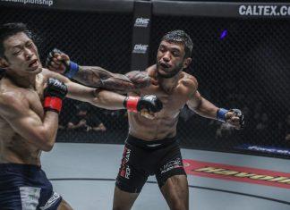Alex Silva mostrou toda a qualidade do seu jogo para conquistar o cinturão dos palhas do ONE (Foto: Divulgação/ONE)