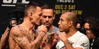Max Holloway e José Aldo voltam a se enfrentar, desta vez no main event do UFC 218 (Foto: Getty Images)
