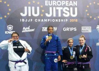 Gabrieli Pessanha foi destaque na faixa-roixa ao garantir o ouro duplo (Foto: Reprodução)