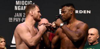 Campeão Miocic e desafiante Ngannou prometem fazer um grande duelo no UFC 220 (Foto: Getty Images)