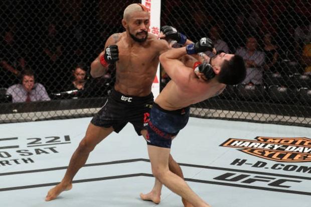 Deiveson Figueiredo não deu chances a Joseph Morales e nocauteou no segundo round (Foto: Getty Images)
