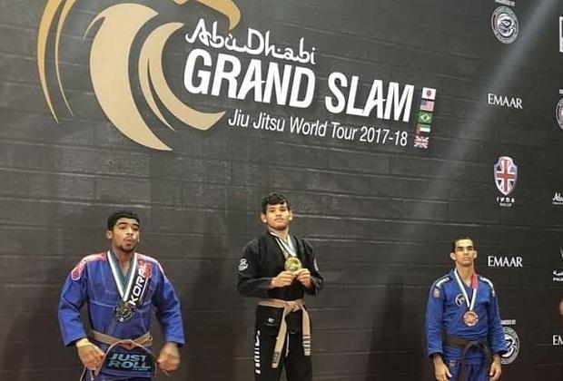 Alex Sodré foi campeão em sua categoria no Grand Slam de Londres da UAEJJF (Foto: Divulgação)