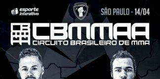Circuito Brasileiro de MMA será realizado no dia 14 de abril, em São Paulo (Foto: Divulgação)