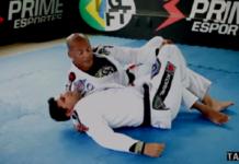Mestre na GFTeam, Flávio Soldado mostrou finalização a partir da meia-guarda invertida (Foto: Reprodução)