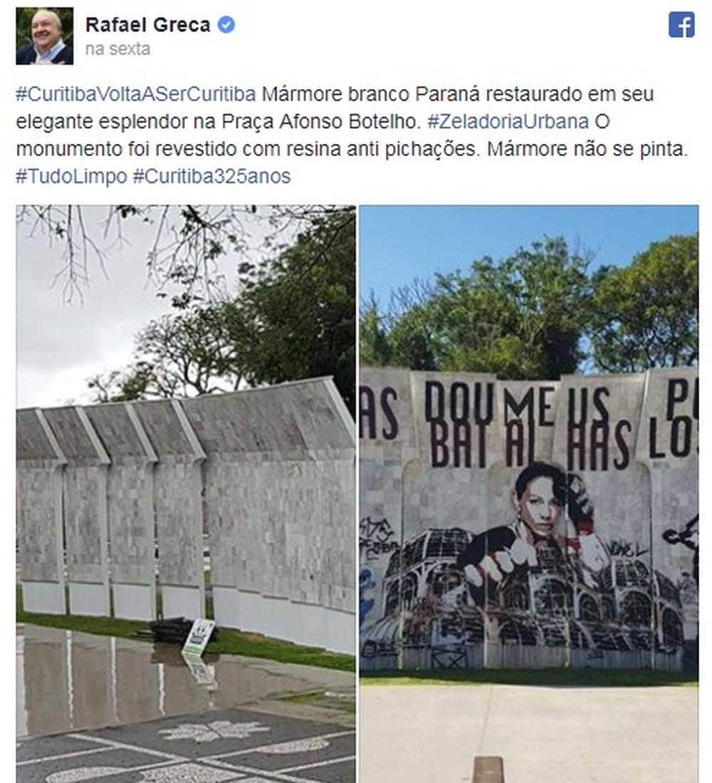 Atual prefeito de Curitiba, Rafael Greca se posicionou sobre o caso (Foto: Reprodução)