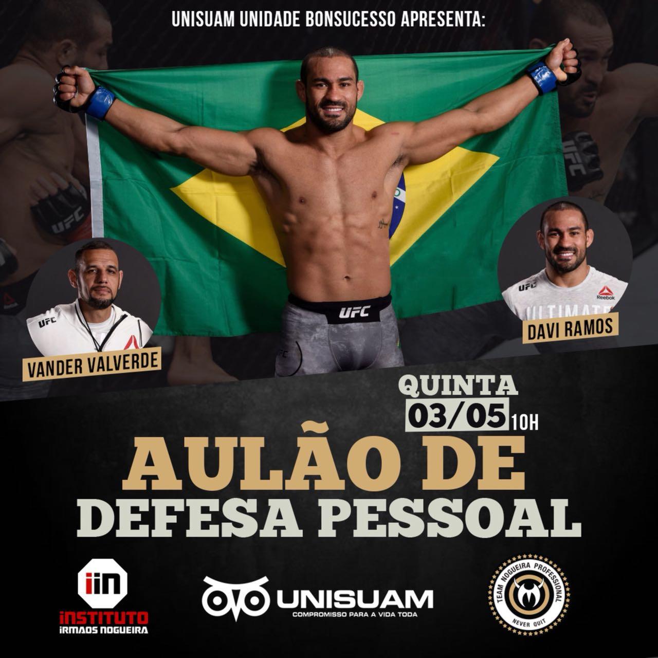 Com distribuição de ingressos para pesagem do UFC 224, Davi Ramos realiza aulão beneficente no Rio
