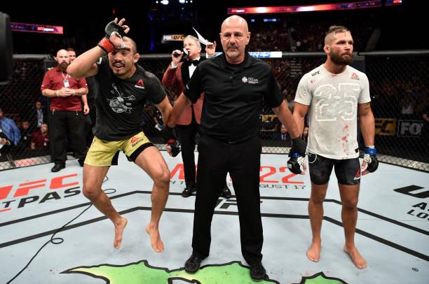 Aldo brilha, nocauteia Stephens e reencontra vitória no UFC Calgary; Poirier e Joanna vencem