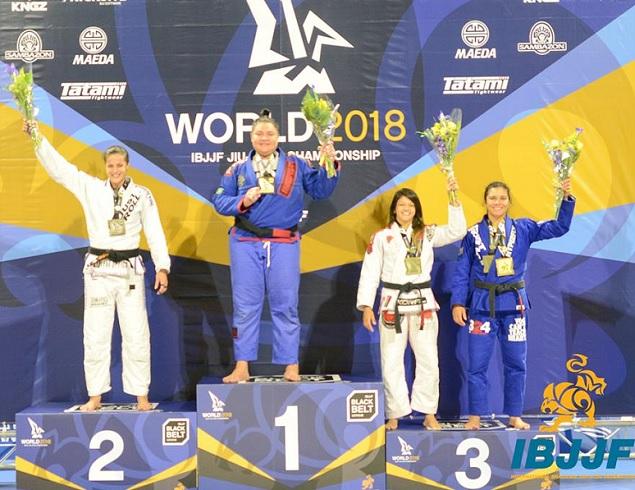 Ouro duplo em 2017 e 2018, Tayane Porfírio mira recorde de títulos mundiais no feminino faixa-preta
