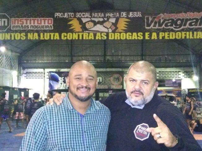 Com mais de 5 mil beneficiados, projeto 'Faixa preta de Jesus' recebe visita especial de Ronaldo Anquieta