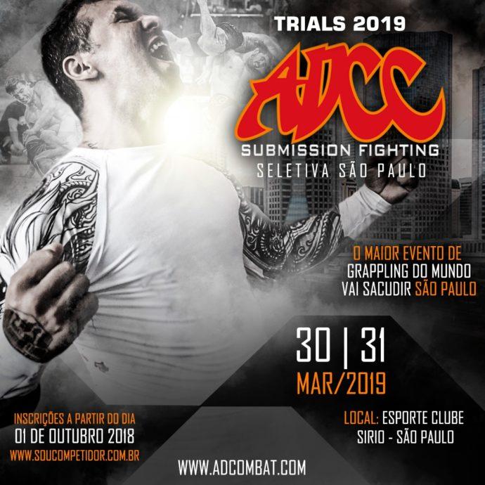 Seletiva brasileira para o ADCC 2019 será realizada em evento único, em São Paulo; saiba mais sobre