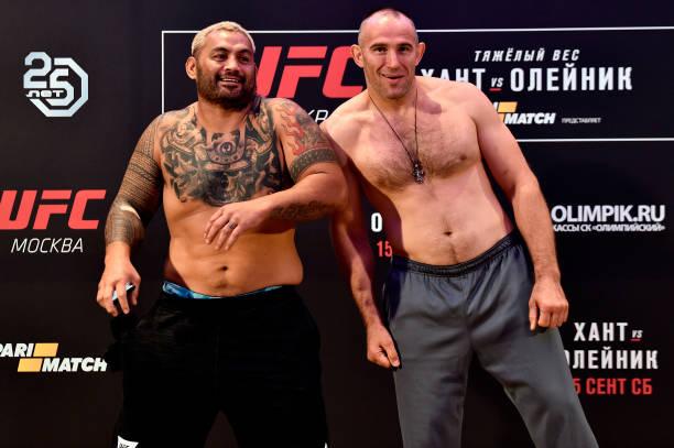 Duelo de veteranos Hunt x Oleynik marca estreia do UFC na Rússia; Pitbull representa o Brasil