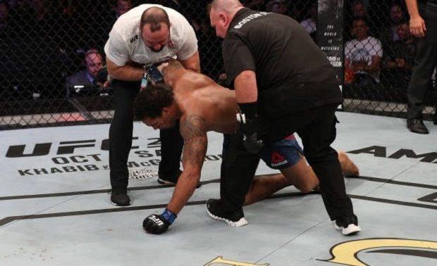 Vídeo: veja o momento em que Eryk Anders 'desiste' de combate contra Marreta no UFC São Paulo
