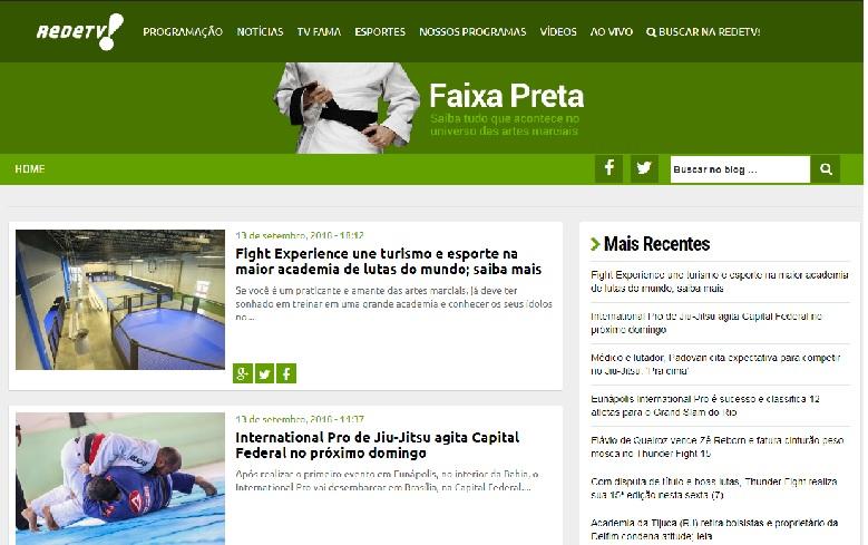 TATAME fecha parceria com a RedeTV e lança o 'Blog Faixa-preta', exclusivo sobre lutas; confira
