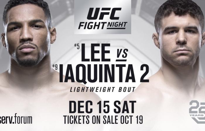 Kevin Lee e Al Iaquinta fazem revanche na luta principal do UFC on FOX 31, em dezembro; saiba mais