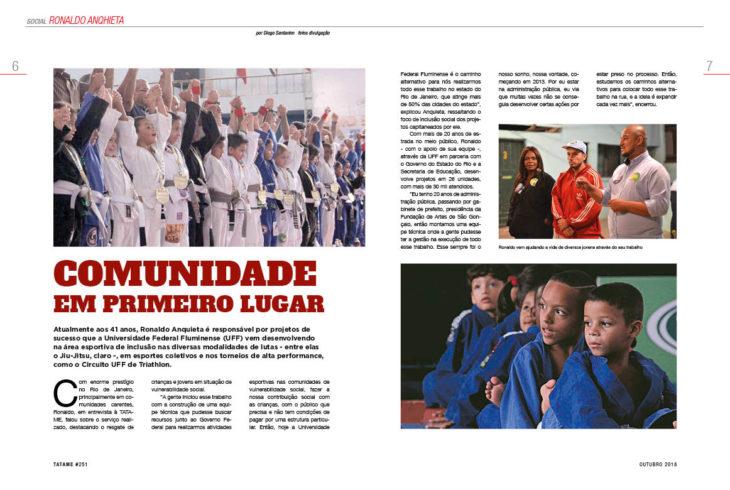 TATAME #251: com foco na inclusão social, trabalho de Ronaldo Anquieta ganha destaque no Rio de Janeiro